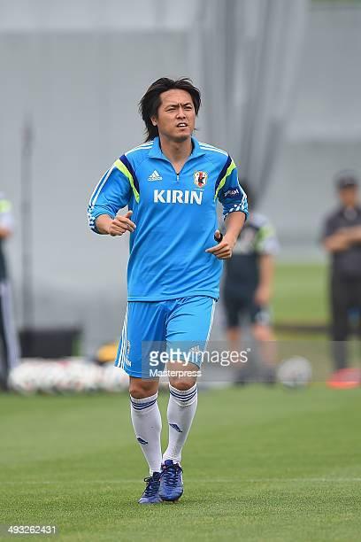 Yasuhito Endo of Japan in action during the training session on May 22 2014 in Ibusuki Kagoshima Japan