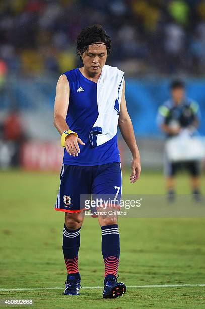 Yasuhito Endo of Japan looks on after his team's 00 draw during the 2014 FIFA World Cup Brazil Group C match between Japan and Greece at Estadio das...