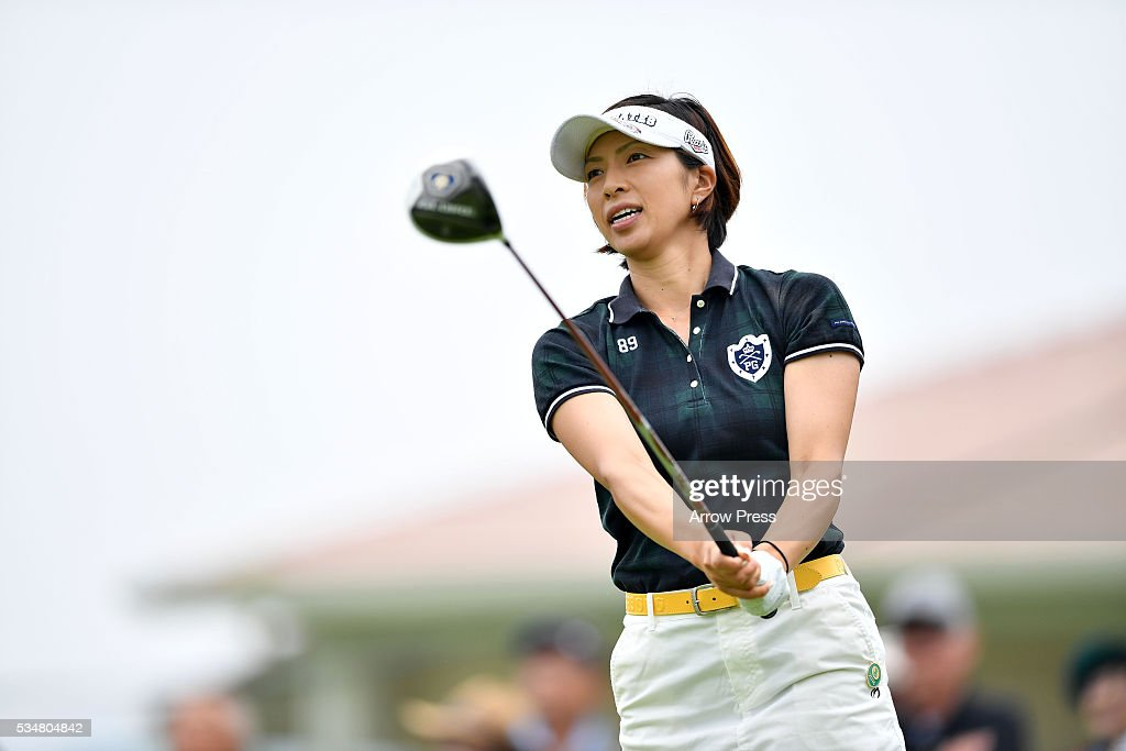 <a gi-track='captionPersonalityLinkClicked' href=/galleries/search?phrase=Yasuko+Sato+-+Golfster&family=editorial&specificpeople=14104579 ng-click='$event.stopPropagation()'>Yasuko Sato</a> of Japan looks on during second round of the Resorttrust Ladies at the Grandee Naruto Golf Club XIV on May 28, 2016 in Naruto, Japan.