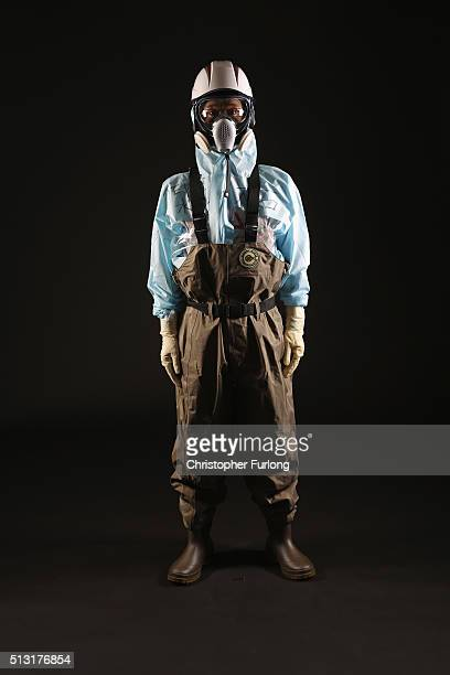 Yasushi Ooishi of TEPCO poses for a portrait on February 23 2016 in Okuma Japan Ooishi works in the team to handle the contaminated water at the...