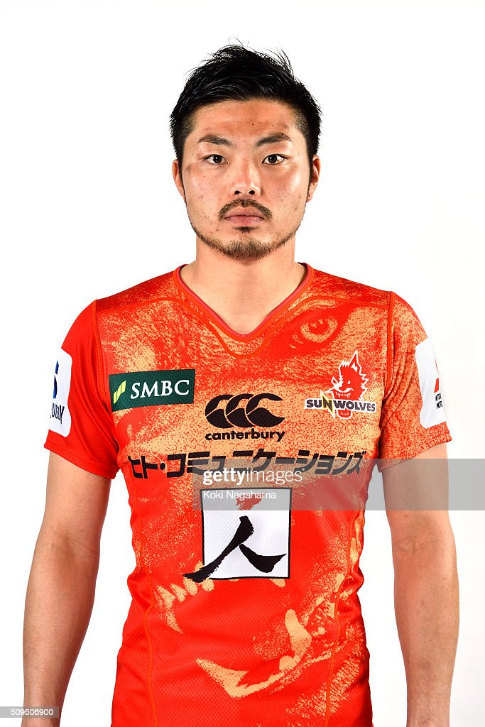 Yasutaka Sasakura poses during the Sunwolves 2016 Super Rugby headshots session on February 11, 2016 in Tokyo, Japan.