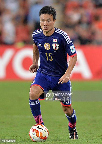 Yasuyuki Konno of Japan in action during the 2015 Asian Cup match between Iraq and Japan at Suncorp Stadium on January 16 2015 in Brisbane Australia