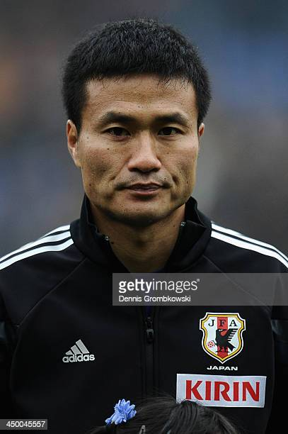 Yasuyuki Konno of Japan looks on prior to the International Friendly match between the Netherlands and Japan on November 16 2013 in Genk Belgium