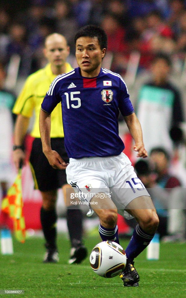 Yasuyuki Konno�@of Japan in action during�@the international friendly match between Japan and South Korea at Saitama Stadium on May 24, 2010 in Saitama, Japan.