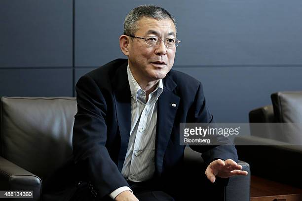 Yasuyuki Yoshinaga chief executive officer of Fuji Heavy Industries Ltd speaks during an interview in Tokyo Japan on Friday Sept 11 2015 Fuji Heavy's...