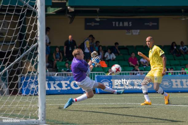 Yau Yee League Masters's Adam Bilbey catching the ball during their Masters Tournament match part of the HKFC Citi Soccer Sevens 2017 on 27 May 2017...