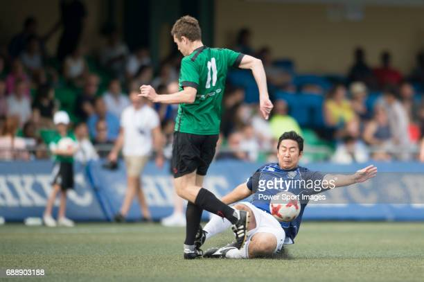 Yau Yee League Masters's Daniel Turner runs with the ball during their Masters Tournament match part of the HKFC Citi Soccer Sevens 2017 on 27 May...