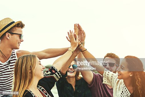 Yay us! : Stock Photo