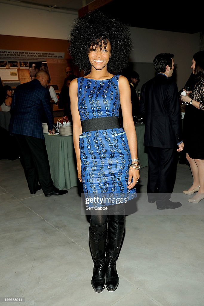 Yaya DaCosta Alafia attends 'The Piano Lesson' Opening Night Party at Signature Theater Company's Peter Norton Space on November 18, 2012 in New York City.