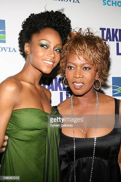 Yaya DaCosta and Alfre Woodard during 'Take the Lead' New York Premiere Arrivals at AMC Lincoln Square in New York NY United States