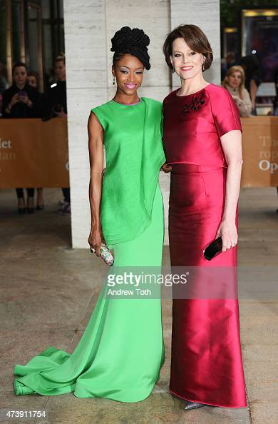 Yaya DaCosta and Sigourney Weaver attend the American Ballet Theatre's 75th Anniversary Diamond Jubilee Spring Gala at The Metropolitan Opera House...