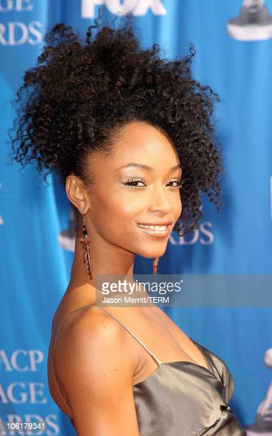 Yaya DaCosta arrives at the 39th NAACP Image Awards held at the Shrine Auditorium on February 14 2008 in Los Angeles California