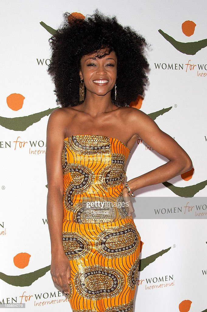 Yaya DaCosta attends the 2012 Women For Women International gala at Koch Theater, Lincoln Center on November 8, 2012 in New York City.