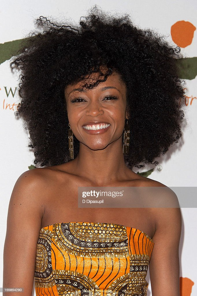 <a gi-track='captionPersonalityLinkClicked' href=/galleries/search?phrase=Yaya+DaCosta&family=editorial&specificpeople=619383 ng-click='$event.stopPropagation()'>Yaya DaCosta</a> attends the 2012 Women For Women International gala at Koch Theater, Lincoln Center on November 8, 2012 in New York City.