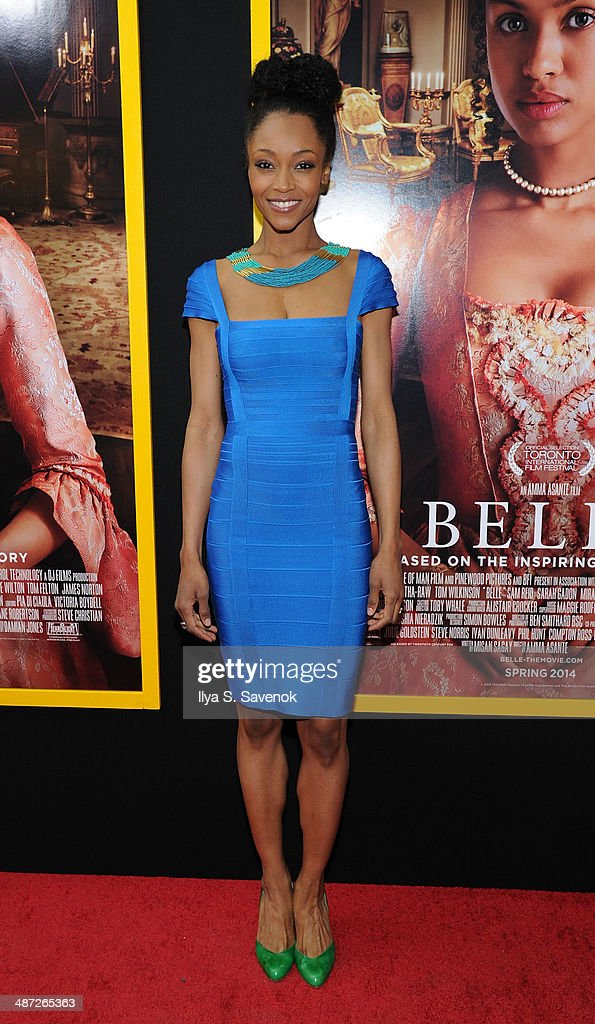 Yaya DaCosta attends the 'Belle' premiere at The Paris Theatre on April 28, 2014 in New York City.