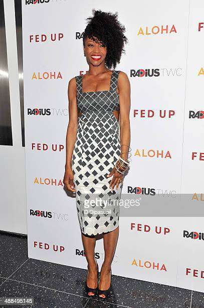 Yaya DaCosta attends the 'Fed Up' premiere at the Museum of Modern Art on May 6 2014 in New York City