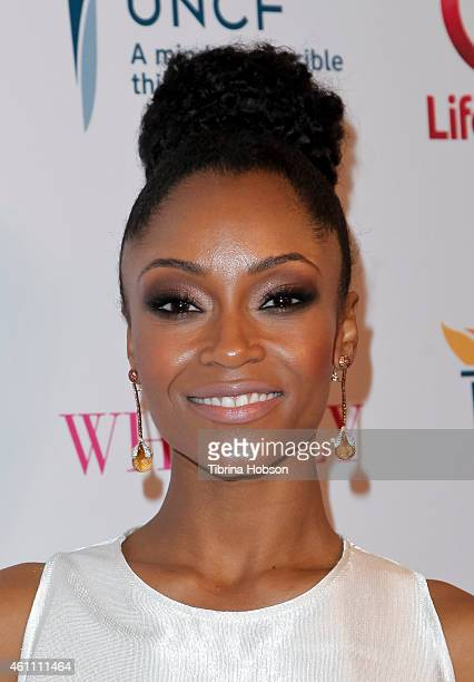 Yaya DaCosta attends the world premiere of Lifetime's 'Whitney' at The Paley Center for Media on January 6 2015 in Beverly Hills California