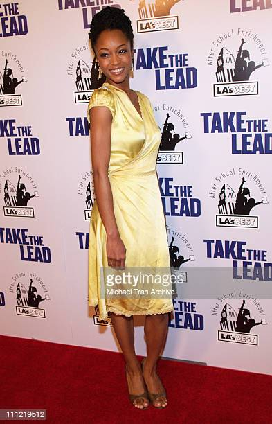 Yaya DaCosta during New Line Cinema Presents 'Take The Lead' Los Angeles Screening Arrivals at Mann's Chinese Theater Screen 1 in Hollywood...