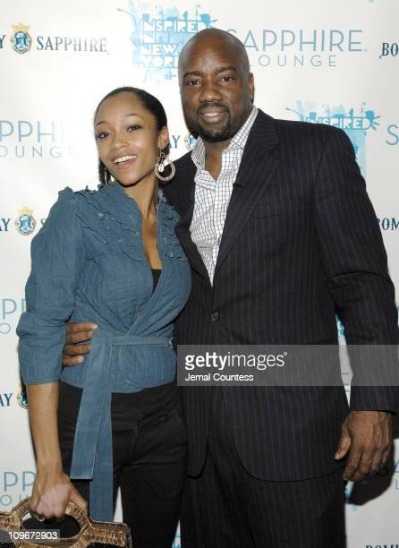 Yaya DaCosta with Malik Yoba host of the Bombay Sapphire 'Inspired in Film' program