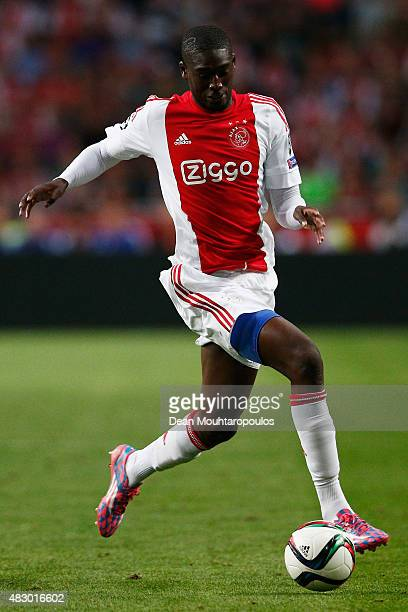 Yaya Sanogo of Ajax in action during the third qualifying round 2nd leg UEFA Champions League match between Ajax Amsterdam and SK Rapid Vienna held...