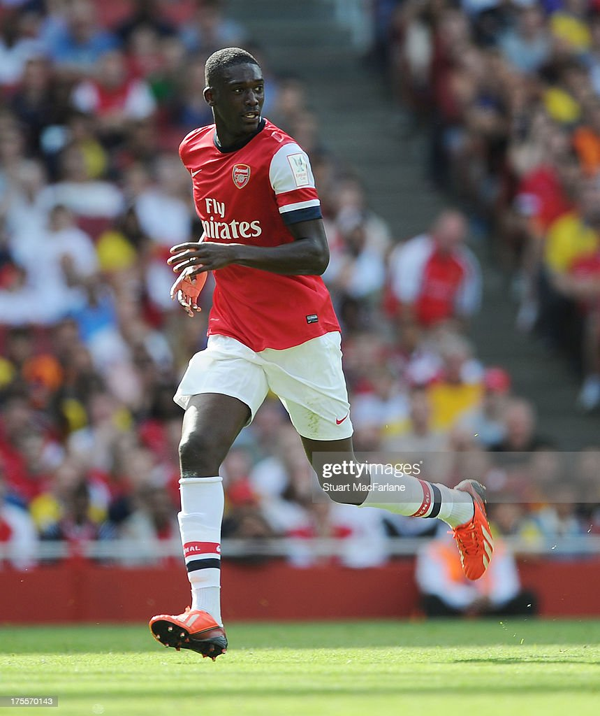 Yaya Sanogo of Arsenal during the Emirates Cup match between Arsenal and Galatasaray at the Emirates Stadium on August 04, 2013 in London, England.