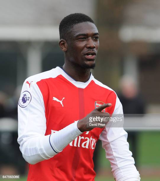 Yaya Sanogo of Arsenal during the match between Arsenal U23 and Tottenham Hotspur U23 at London Colney on March 3 2017 in St Albans England