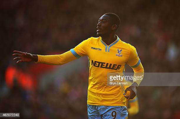 Yaya Sanogo of Crystal Palace celebrates as he scores their second goal during the FA Cup Fourth Round match between Southampton and Crystal Palace...