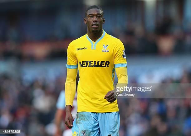 Yaya Sanogo of Crystal Palace during the Barclays Premier League match between Burnley and Crystal Palace at Turf Moor on January 17 2015 in Burnley...