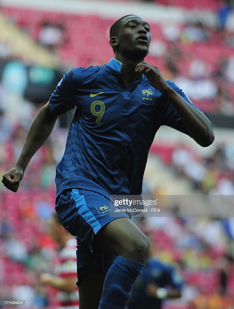 Yaya Sanogo of France celebrates his goal during the FIFA U-20 World Cup Group A match between France and USA at the Ali Sami Yen Arena on June 24, 2013 in Istanbul, Turkey.
