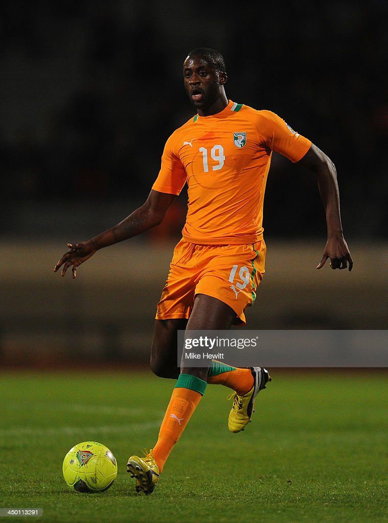 <a gi-track='captionPersonalityLinkClicked' href=/galleries/search?phrase=Yaya+Toure&family=editorial&specificpeople=550817 ng-click='$event.stopPropagation()'>Yaya Toure</a> of Ivory Coast in action during the FIFA 2014 World Cup Qualifier Play-off Second Leg between Senegal and Ivory Coast at Stade Mohammed V on November 16, 2013 in Casablanca, Morocco.
