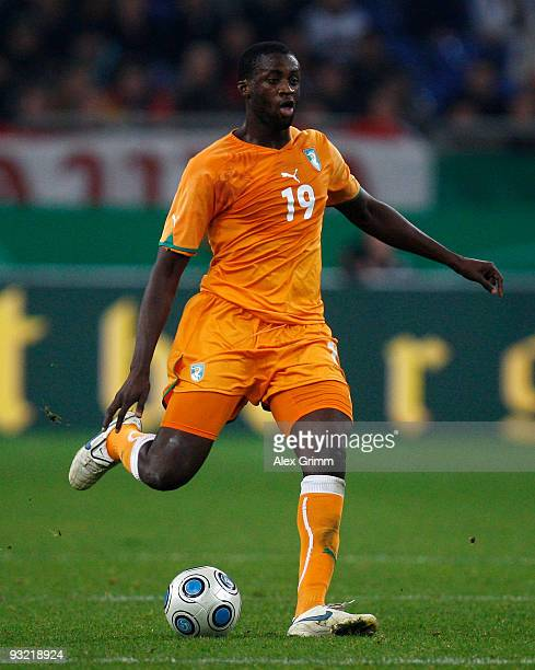 Yaya Toure of Ivory Coast runs with the ball during the International friendly match between Germany and the Ivory Coast at the Schalke Arena on...