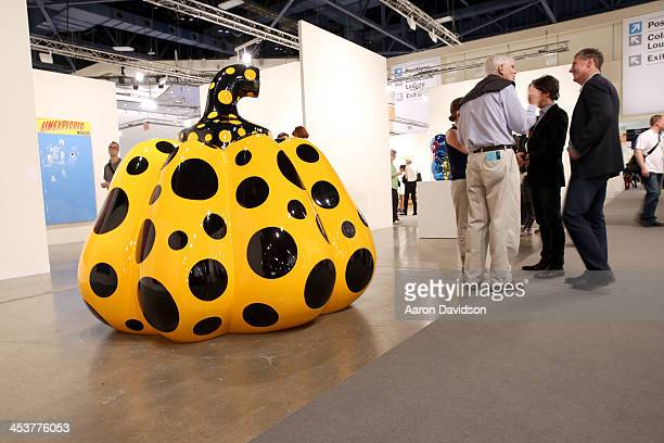 Yayoi Kusama is displayed at David Zwirner Gallery during Art Basel Miami Beach 2013 at the Miami Beach Convention Center on December 5 2013 in Miami...
