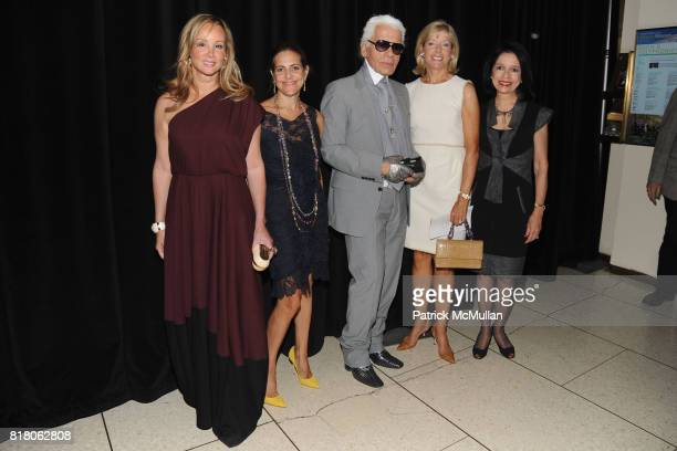 Yaz Hernandez Alexandra Lebenthal Karl Lagerfeld Liz Peek and Dr Joyce Brown attend KARL LAGERFELD To Be Honored by FIT'S Couture Council Presented...