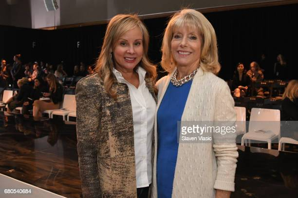 Yaz Hernandez and Liz Peek attend the 2017 Future of Fashion runway show at the Fashion Institute of Technology on May 8 2017 in New York City
