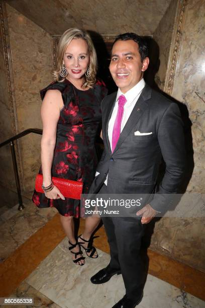 Yaz Hernández and Gabriel RiveraBarraza Attend The 2017 HPRA Bravo Awards at Lotte New York Palace on October 11 2017 in New York City