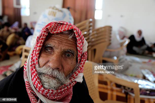 Yazidi man 70year old Hidir Micko freed by Islamic State of Iraq and the Levant militants is seen in Kirkuk Iraq on January 18 2015 ISIL freed...