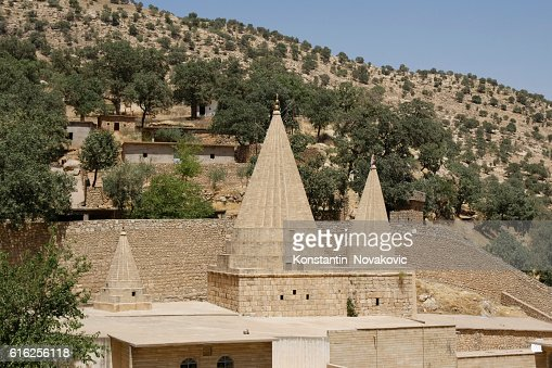 Yazidi shrine in Northern Iraq : Stock Photo