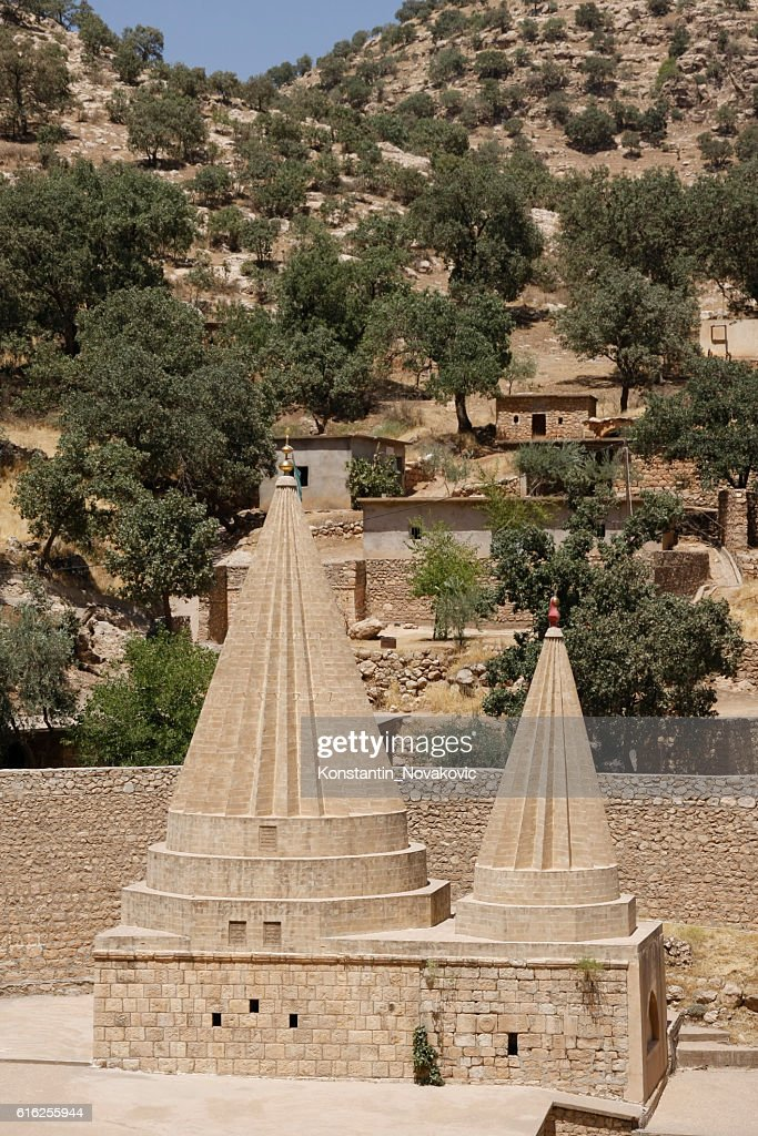 Yazidi shrine, Iraqi Kurdistan : Foto de stock