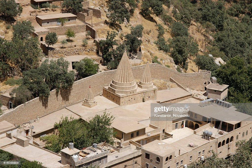 Yazidi shrine of Sex Adi, Kurdistan Region, Iraq : Foto de stock