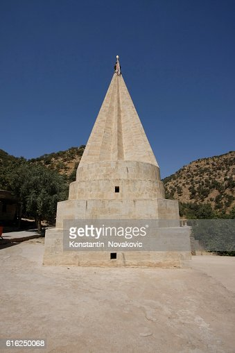 Yazidi temple dome in Lalish, Iraq : Stock Photo