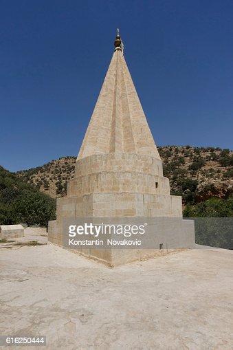 Yazidi temple dome in North Iraq : Foto de stock