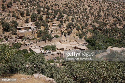 Yazidi temples in Lalish, Iraqi Kurdistan : Foto de stock