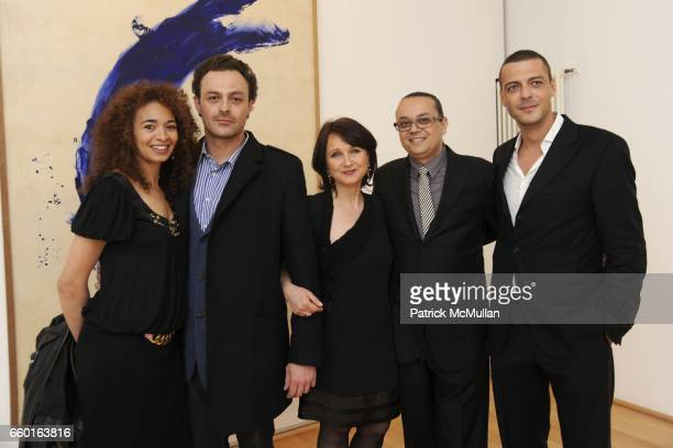 Ybtisam Zeitoun Georges Moquay Laurence WrobelB¸rgi Yves Klein and David Moquay attend GALERIE GMURZYNSKA Celebrates the Opening of YVES KLEIN...