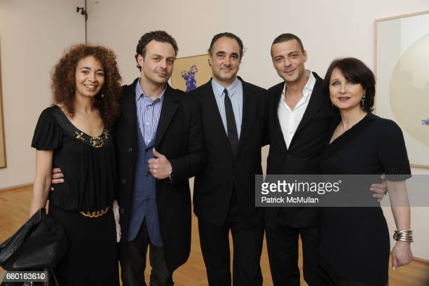 Ybtisam Zeitoun Georges Moquay Marthias Rastorfer David Moquay and Laurence WrobelB¸rgi attend GALERIE GMURZYNSKA Celebrates the Opening of YVES...