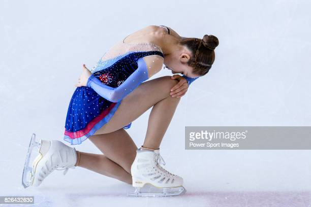 Ye Lim Kim of Korea competes in Junior Ladies group during the Asian Open Figure Skating Trophy 2017 on August 4 2017 in Hong Kong Hong Kong