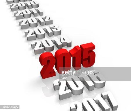 Año 2015 : Foto de stock