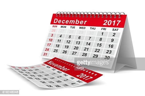 2017 year calendar. December. Isolated 3D image : Foto de stock