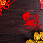 Year of dog ,Chinese zodiac animals paper cutYear of horse Chinese zodiac animals paper cutting
