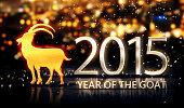Year of The Goat 2015 Yellow Night Beautiful Bokeh 3D