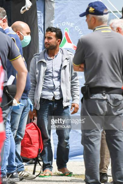 24 year old Ahmad Dey a Syrian stopped at Corigliano during disembarkation by ship Vos Hestia and arrested on May 31 2017 following investigations by...